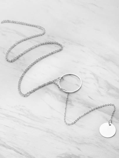 Collier en caoutchouc décoré de paillettes et anneaux