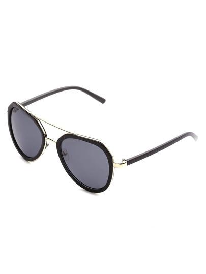 Contrast Frame Aviator Sunglasses