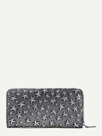 Star Decorated PU Wallet