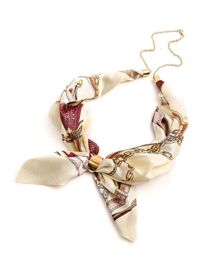 Mixed Print Satin Neckerchief