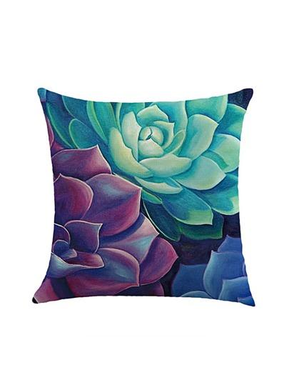 Succulent Plant Print Pillowcase Cover