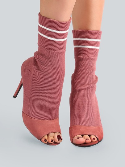 Sock Calf Bootie DUSTY ROSE