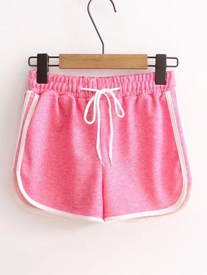 Shorts con ribete en contraste