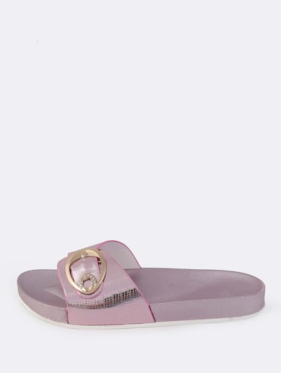 Patent Buckle Slides PINK