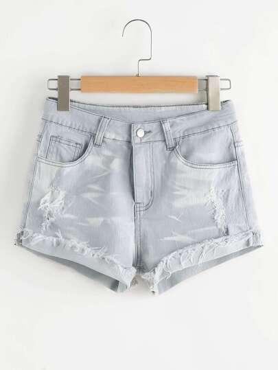 Zerrissene Jeansshorts