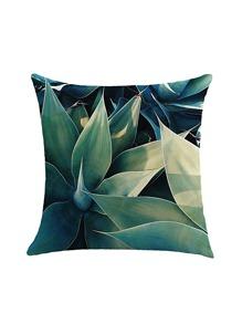 Plant Print Pillowcase Cover