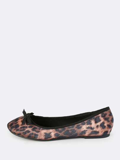 Leopard Print Velvet Flats LEOPARD