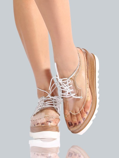Clear Oxford Flatforms CLEAR