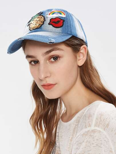 Embroidery Patch Denim Baseball Cap