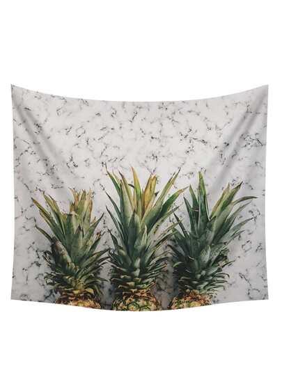 Arazzo con stampa di ananas