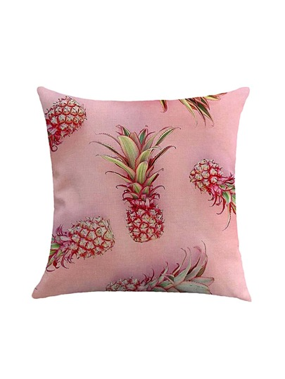 Pineapple Print Pillowcase Cover