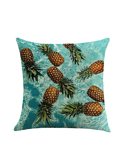 Allover Pineapple Print Pillowcase Cover