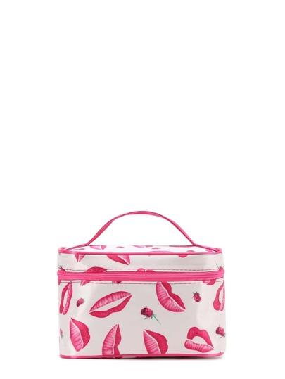 Lip Print Makeup Bag
