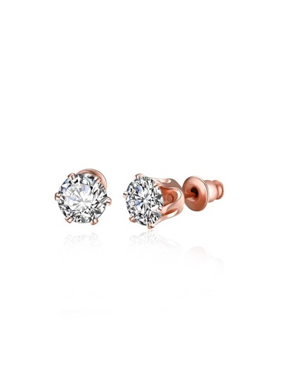 Rhinestone Design Stud Earrings