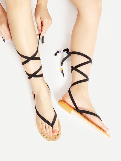 Sandales plates croisé découvrir orteil