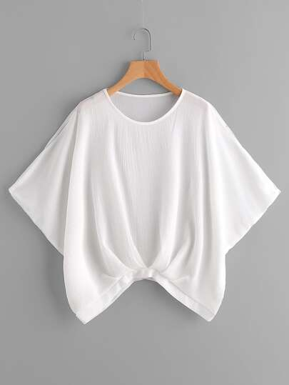 Split Shoulder Dolman Sleeve Blouse