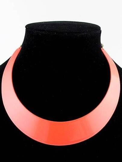 Orange Light Colors Collar Necklace