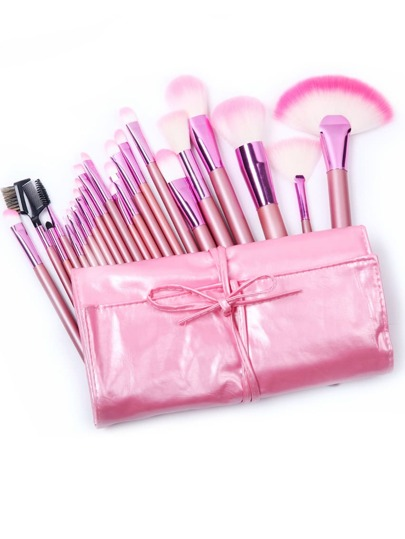 Make-Up-Bürste-Set, 22 Stücke, rosa