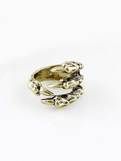 Gold Vintage Claw Ring