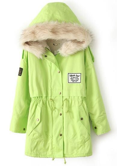 Cappotto con fodera di lana-verde