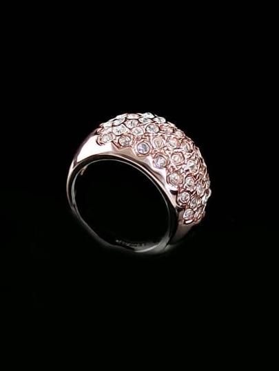 Fashion Gold Diamond Mosaic Ring