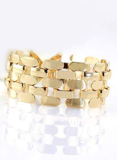 Gold Hollow Chain Bracelet
