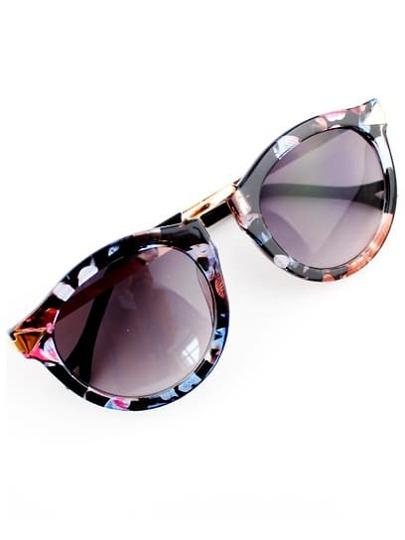 Purple Lenses Floral Sunglasses