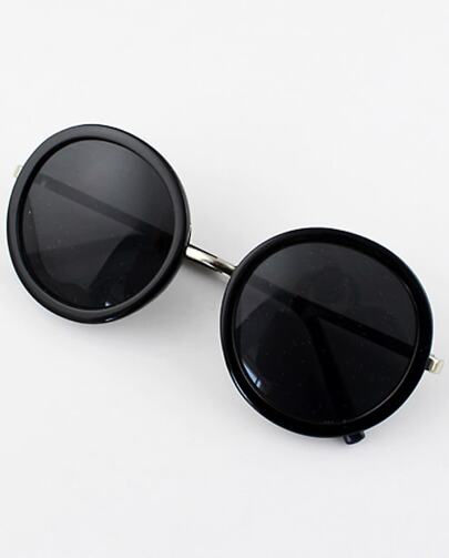 Black Round Lenses Sunglasses