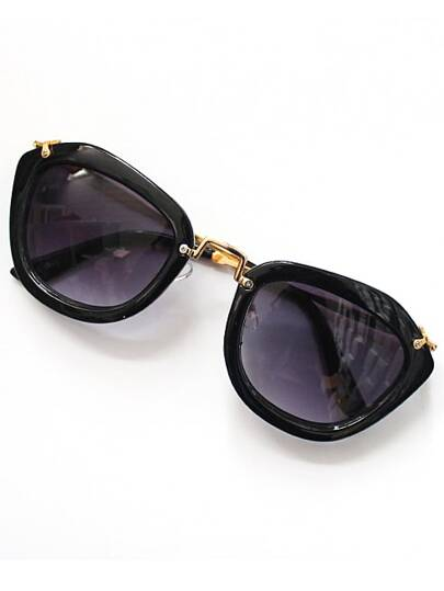 Black Rim Purple Sunglasses