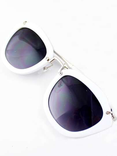 White Rim Purple Sunglasses