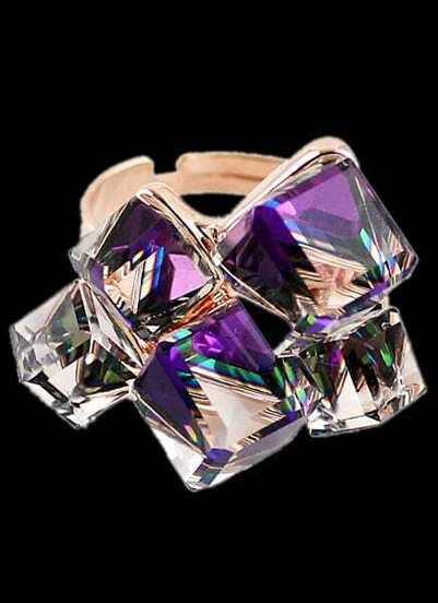 Purple Gemstone Fashion Gold Ring
