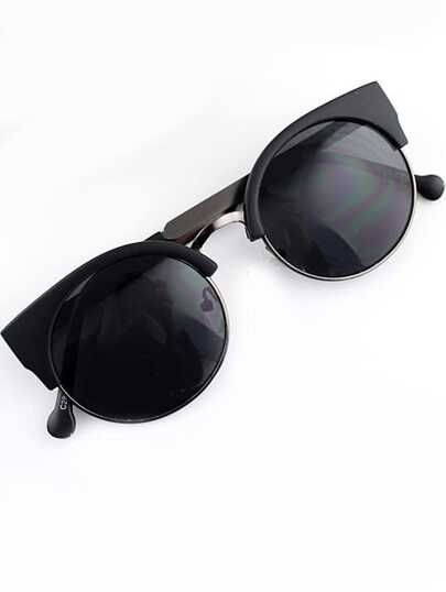 Black Cat Eyed Sunglasses