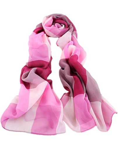 Red Contrast Pink Fashion Scarves