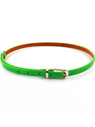 Fashion Green Buckle Belt
