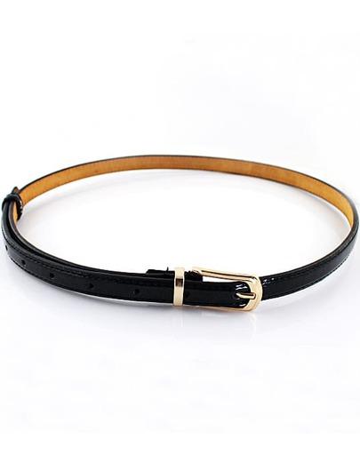 ceinture à boucle à la mode -Noir