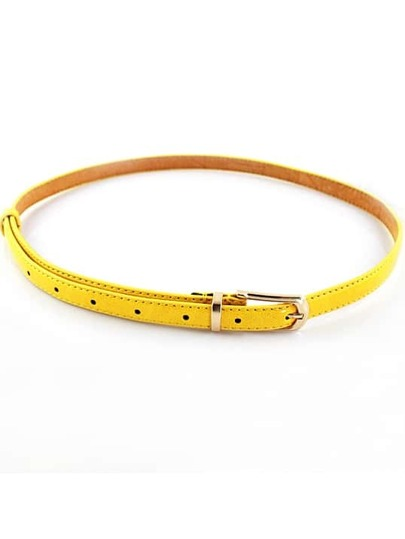 Fashion Yellow Buckle Belt