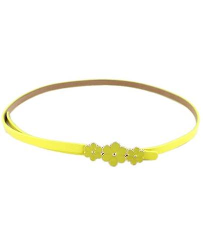 Yellow Glaze Flowers Embellished Belt