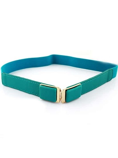 Green Elastic Metal Buckle Belt