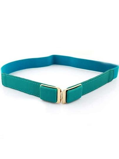 Cinturón elástico hebilla metal verde