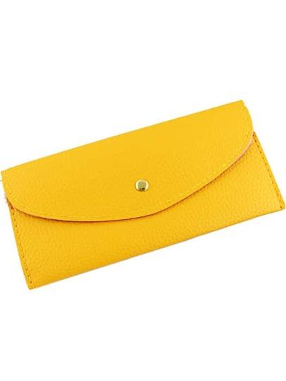 Clutch polipiel de moda-amarillo