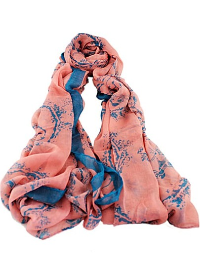 Pink Fashion Floral Scarves