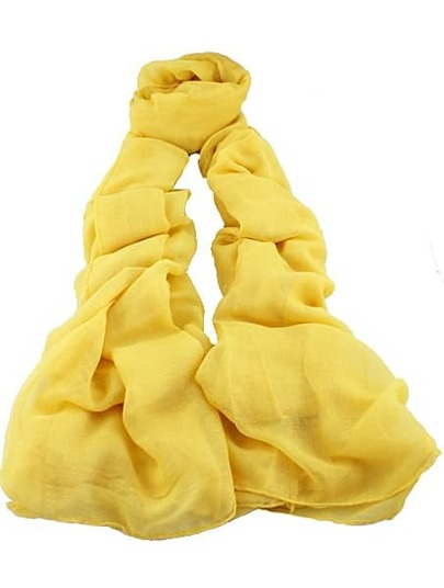 Vintage Yellow Sheer Scarves