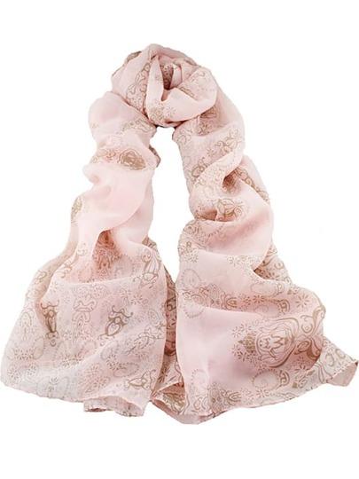Pink Vintage Floral Scarves