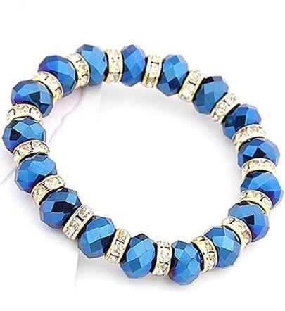 Fashion Blue Bead Bracelet