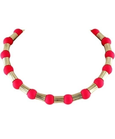 Red Bead Gold Fashion Necklace