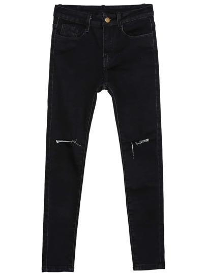 Pantalones denim bolsillos-negro