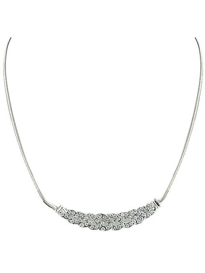 Silver Diamond Wound Necklace