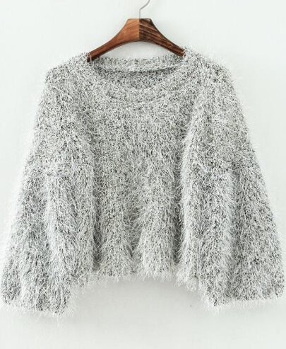 Shaggy Loose Crop Sweater