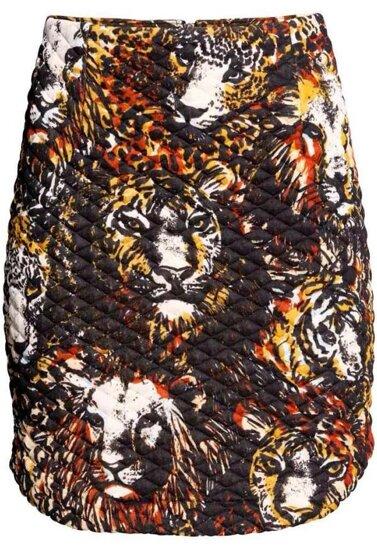 Falda Bodycon tigre-negro