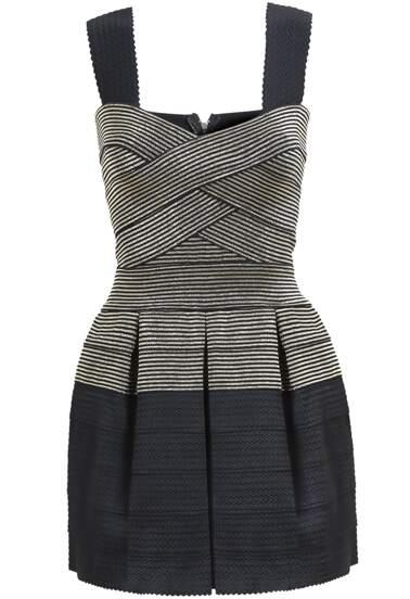 Colour-block Strap Bandage Dress